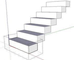 abrir componente escada no sketchup