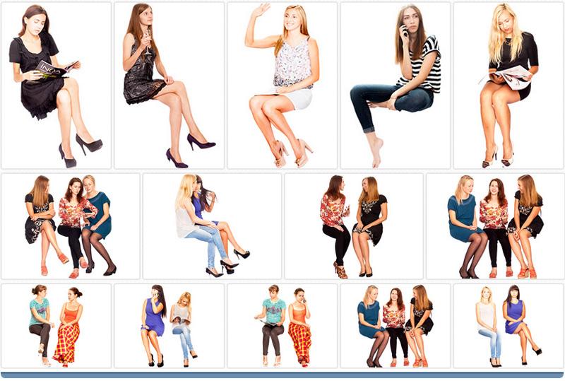 Mulheres sentadas