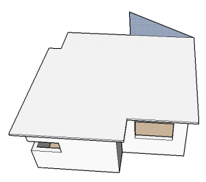 face do telhado no sketchup