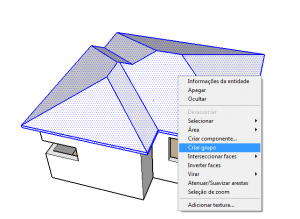grupo do telhado no sketchup