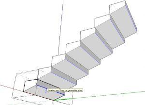 travar escada na parte inferior