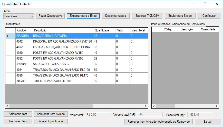 Software para projetos de Andaimes
