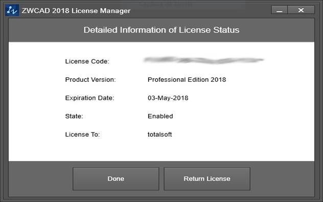 license manager zwcad