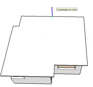 altura telhado sketchup
