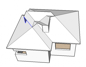 aresta grossa do telhado no sketchup