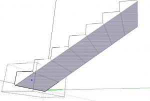 espessura da escada no sketchup