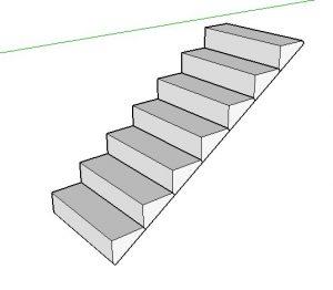 como fazer escada no sketchup