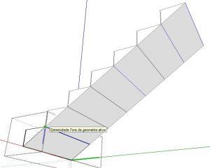 extremidade da escada