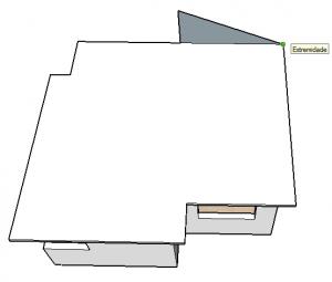 extremidade de telhado no sketchup