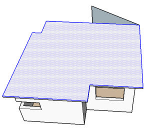 face e aresta de telhado