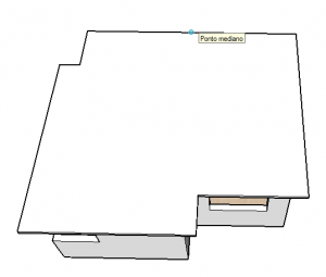 ponto mediano do telhado no sketchup