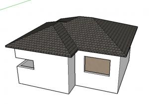 telhado finalizado no sketchup